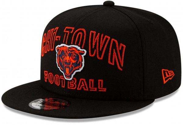 New Era - NFL Chicago Bears 2020 Draft Alternative 9Fifty Snapback Cap - Schwarz Ansicht vorne schräg links