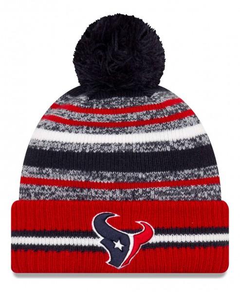 New Era - NFL Houston Texans 2021 Sport Knit Bobble Beanie - Mehrfarbig Vorderansicht