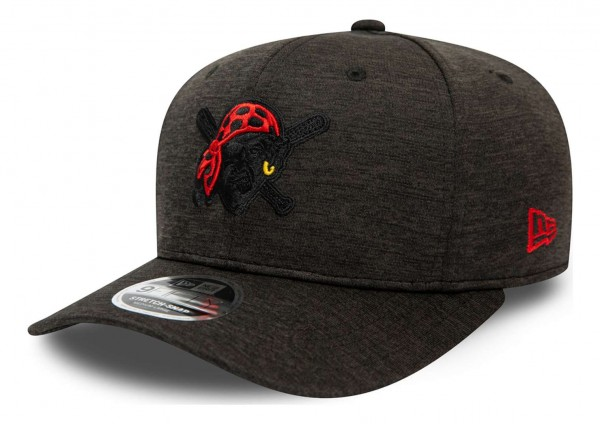 New Era - MLB Pittsburgh Pirates Shadow Tech Pop 9Fifty Stretch Snapback Cap - Grau Ansicht vorne schräg links