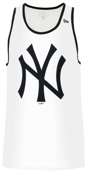 New Era - MLB New York Yankees Team Apparel Logo Tank Top - Weiß Vorderansicht