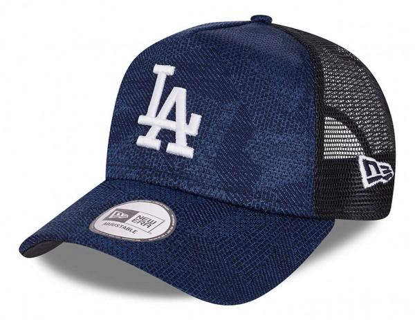 New Era - MLB Los Angeles Dodgers Engineered Fit 2 Trucker Snapback Cap - Blau Ansicht vorne schräg links