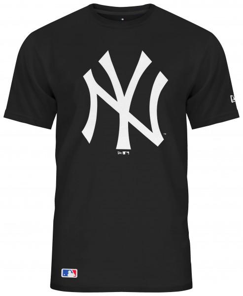 New Era - MLB New York Yankees Team Logo T-Shirt - Schwarz Vorderansicht