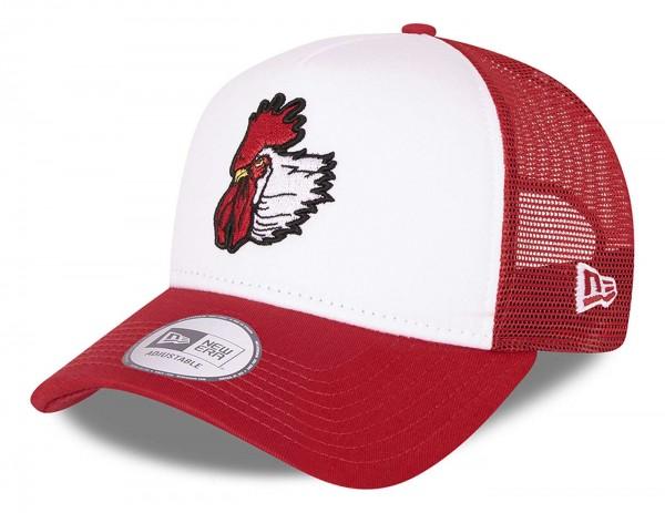 New Era - MiLB Port City Roosters Minor League Trucker Snapback Cap - Rot Ansicht vorne schräg links