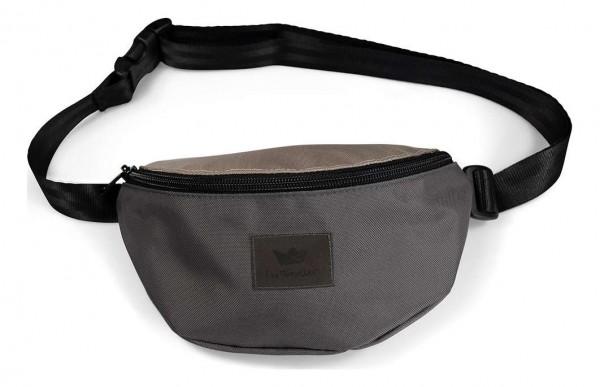 Freibeutler - Hip Bag Black Strap Tasche - Grau Vorderansicht