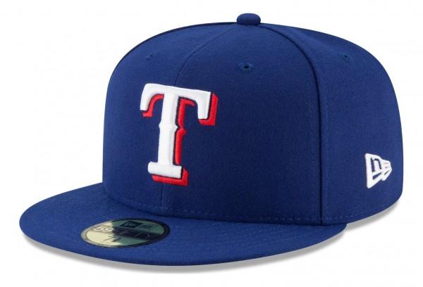 New Era - MLB Texas Rangers Authentic Collection Fitted Cap - Blau Ansicht vorne schräg links