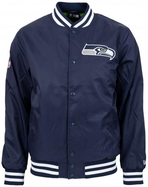 New Era - NFL Seattle Seahawks Team Wordmark Bomber Jacke - Blau Vorderansicht