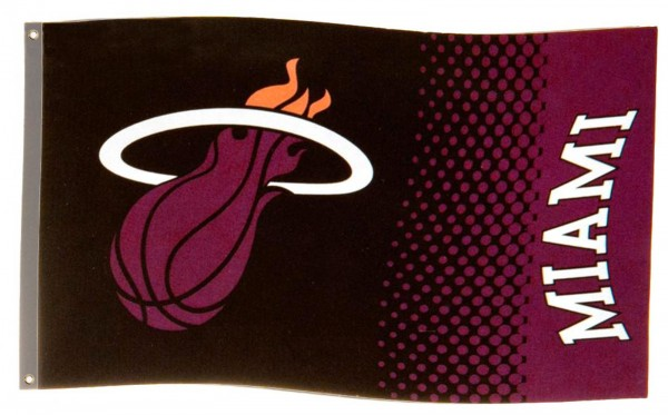 Forever Collectibles - NBA Miami Heat Fade Flagge - Schwarz Gesamtansicht