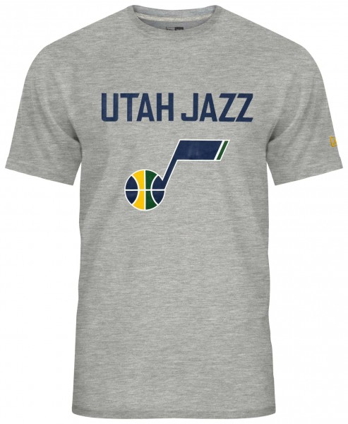 New Era - NBA Utah Jazz Team Logo T-Shirt - Grau Vorderansicht