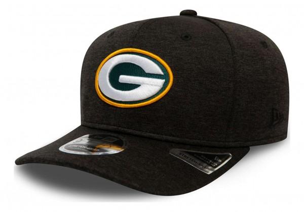 New Era - NFL Green Bay Packers Total Shadow Tech 9Fifty Stretch Snapback Cap - Grau Ansicht vorne schräg links