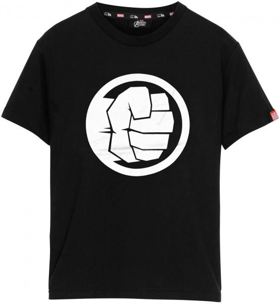 Left Side - Marvel The Hulk Logo T-Shirt - Schwarz Frontansicht