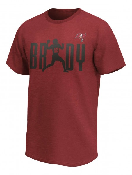 Fanatics - NFL Tampa Bay Buccaneers Tom Brady Checkdown Player Graphic T-Shirt - Rot Vorderansicht