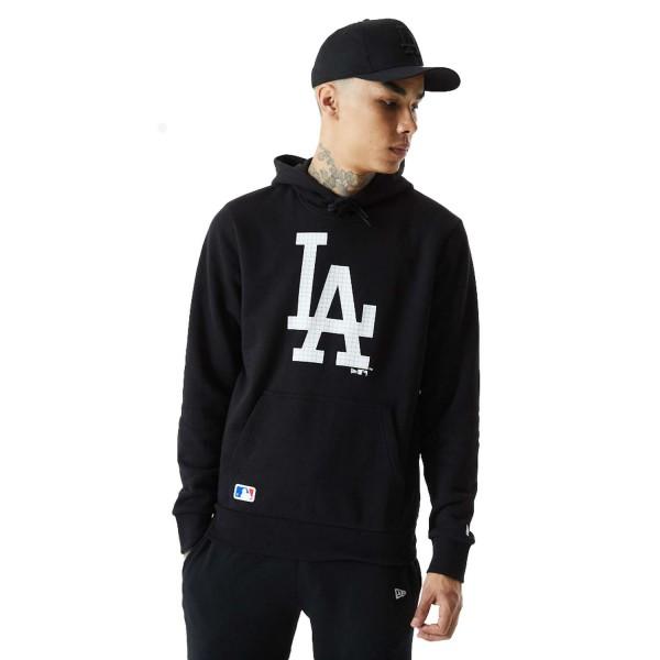 New Era - MLB Los Angeles Dodgers Infill Logo Hoodie - Schwarz Vorderansicht