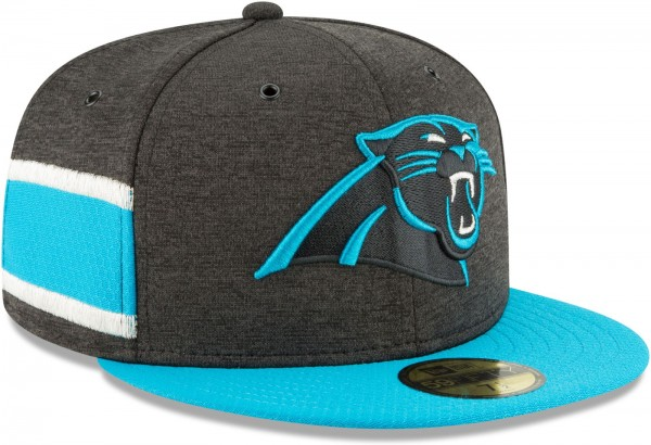 New Era - NFL Carolina Panthers 2018 Sideline Home 59Fifty Fitted Cap - Grau schräg vorne rechts
