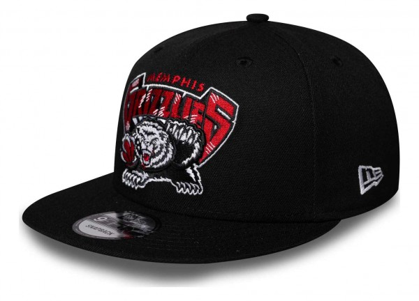 New Era - NBA Memphis Grizzlies Hardwood Classic Nights 9Fifty Snapback Cap - Schwarz Ansicht vorne schräg links