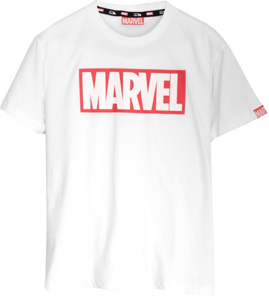 Left Side - Marvel Logo T-Shirt - Weiß