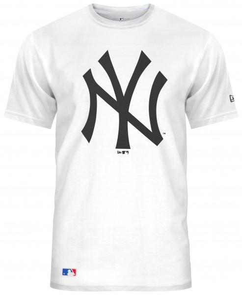 New Era - MLB New York Yankees Team Logo T-Shirt - Weiß Vorderansicht