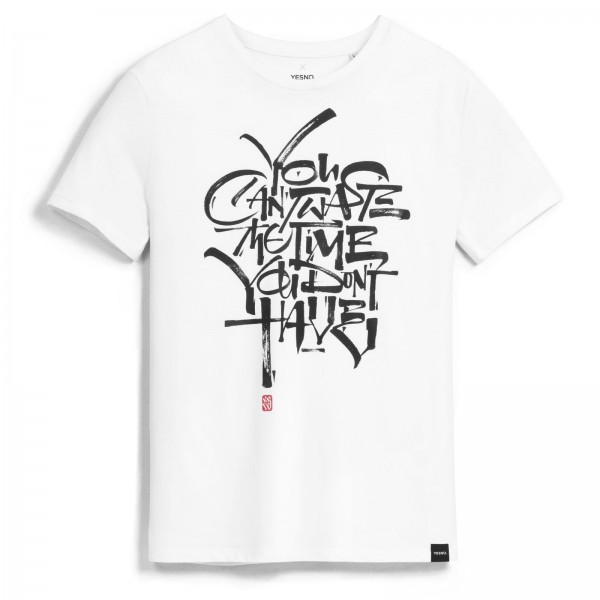 YESNO - Luca Barcellona You can't waste the time you don't have T-Shirt - Weiß