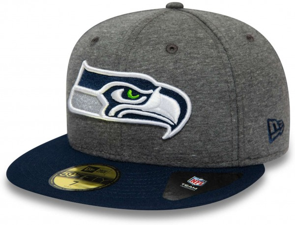 New Era - NFL Seattle Seahawks Jersey Essential 59Fifty Fitted Cap - Grau Ansicht vorne links