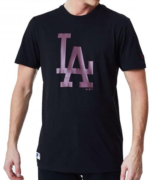 New Era - MLB Los Angeles Dodgers Seasonal Team Logo T-Shirt - Schwarz Vorderansicht