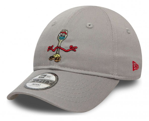 New Era - Disney Toy Story Small Logo Forky 9Forty Infant Strapback Cap - Grau Ansicht vorne schräg links