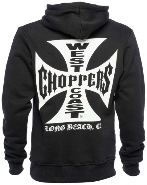 West Coast Choppers - WCC OG Cross Hoodie - Schwarz Rückansicht