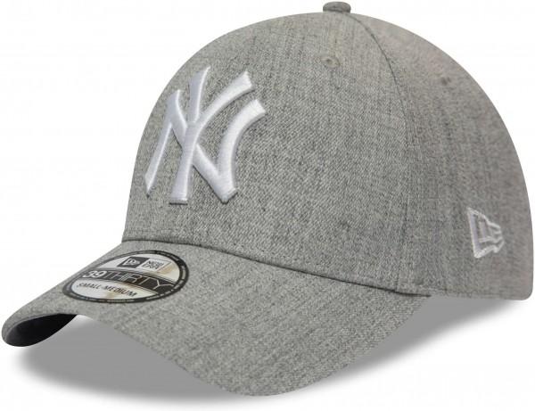New Era - MLB New York Yankees Heather 39Thirty Stretch Cap - Grau Ansicht vorne schräg links