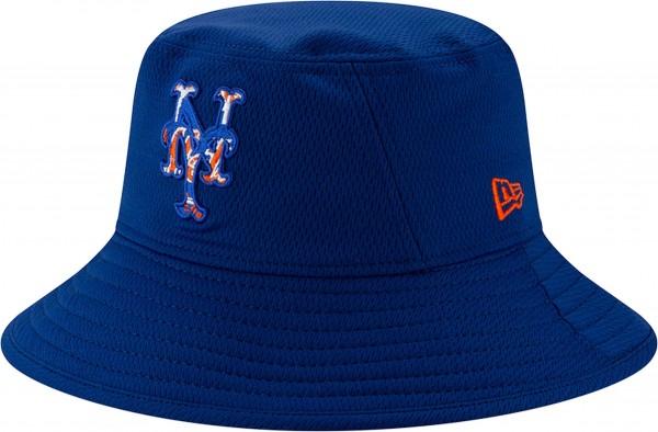 New Era - MLB New York Mets 2020 Batting Practice Bucket Hut - Blau Ansicht schräg links