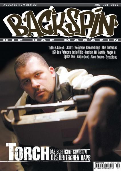 Auf dem Bild ist das Cover zu sehen der BACKSPIN Printausgabe Nummer 22