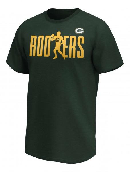 Fanatics - NFL Green Bay Packers Aaron Rodgers Checkdown Player T-Shirt - Grün Vorderansicht
