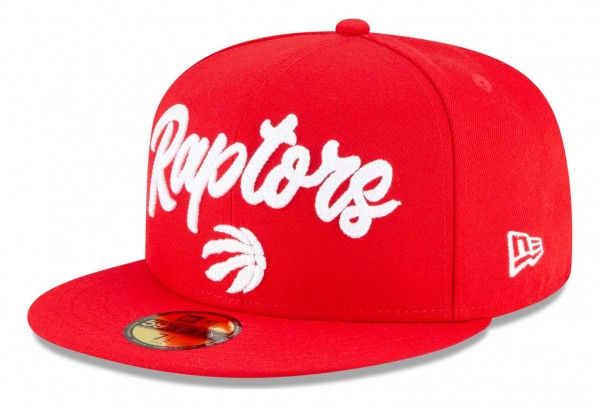 New Era - NBA Toronto Raptors 2020 Draft Edition Alternative 59Fifty Fitted Cap - Rot Ansicht vorne schräg links