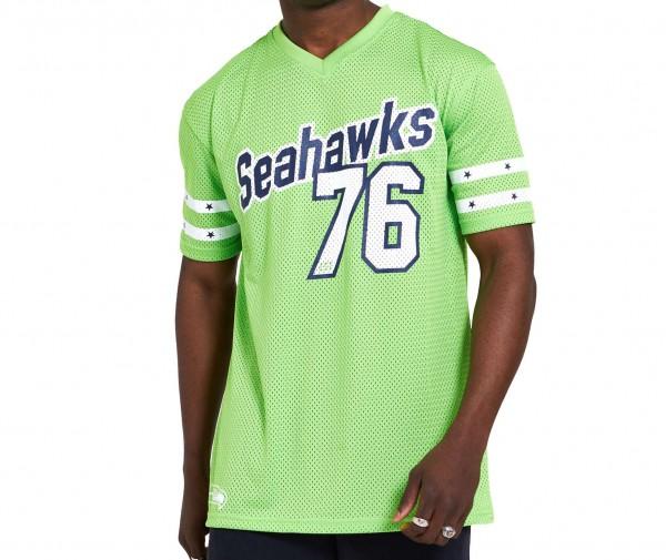 New Era - NFL Seattle Seahawks Stripe Oversized T-Shirt - Grün Vorderansicht