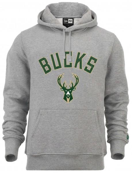 New Era - NBA Milwaukee Bucks Team Logo Hoodie - Grau