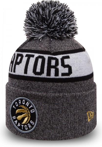 New Era - NBA Totonto Raptors Bobble Cuff Beanie - grey