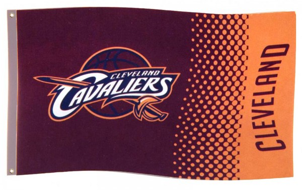 Forever Collectibles - NBA Cleveland Cavaliers Fade Flagge - Rot Gesamtansicht