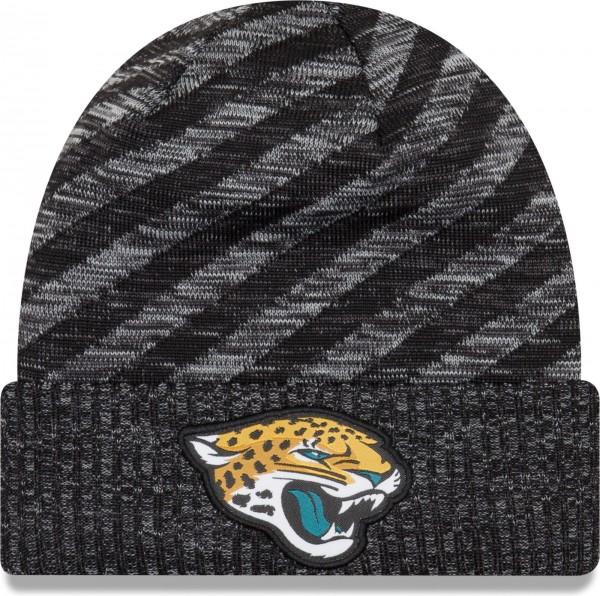 New Era - NFL Jacksonville Jaguars On Field 2018 TD Knit Beanie - Schwarz-Grau ansicht vorderseite