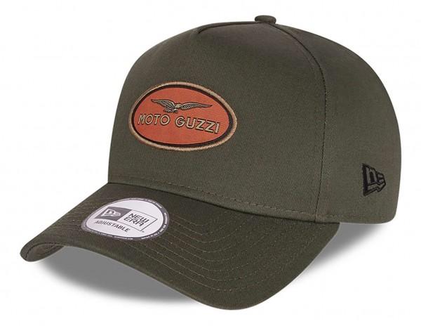 New Era - Moto Guzzi Washed Cotton 9Forty Strapback Cap - Grün Ansicht vorne schräg links