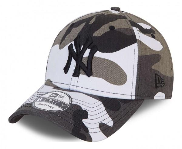 New Era - MLB New York Yankees Camo Pack 9Forty Strapback Cap - Weiß Ansicht vorne schräg links
