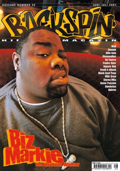 Auf dem Bild ist das Cover zu sehen der BACKSPIN Printausgabe Nummer 28