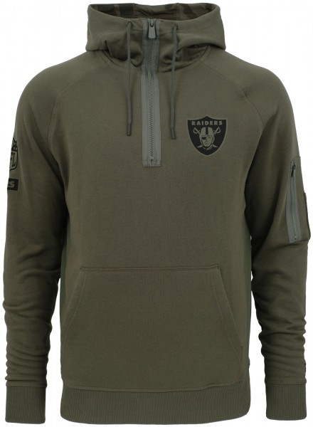 New Era - NFL Oakland Raiders Camo Collection 2018 Hoodie - Olivgrün Ansicht vorne