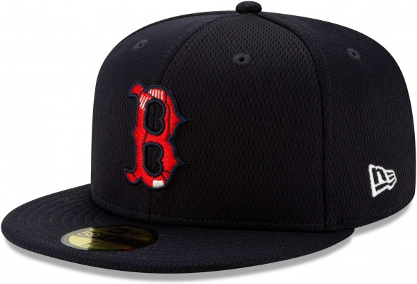 New Era - MLB Boston Red Sox Properties 59Fifty Fitted Cap - Blau Ansicht vorne links