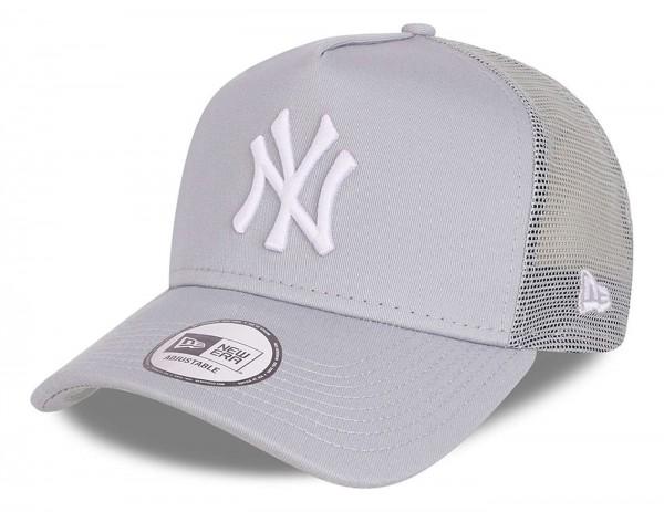 New Era - MLB New York Yankees Tonal Mesh Trucker Snapback Cap - Grau Ansicht vorne schräg links
