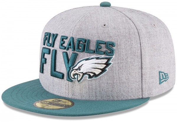 New Era - NFL Philadelphia Eagles Draft 2018 On Stage 59Fifty Cap - Grau-Grün