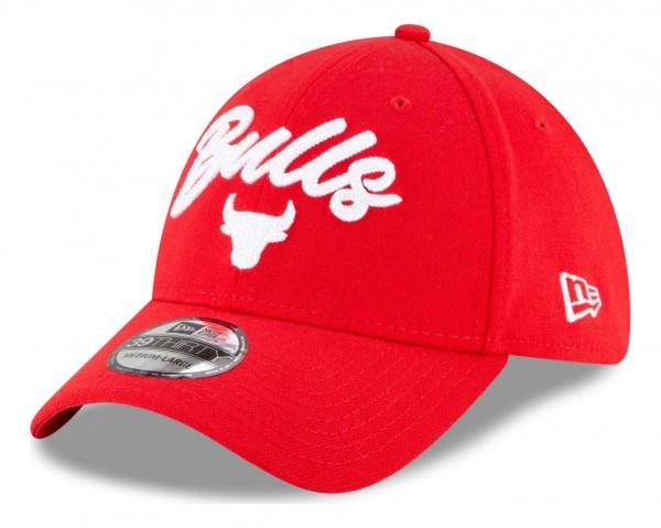 New Era - NBA Chicago Bulls 2020 Draft Edition Alternative 39Thirty Stretch Cap - Rot Ansicht vorne schräg links