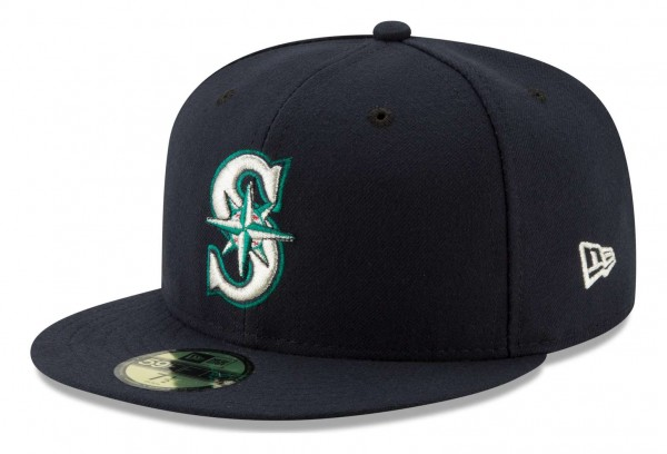 New Era - MLB Seattle Mariners Authentic Collection Fitted Cap - Blau Ansicht vorne schräg links