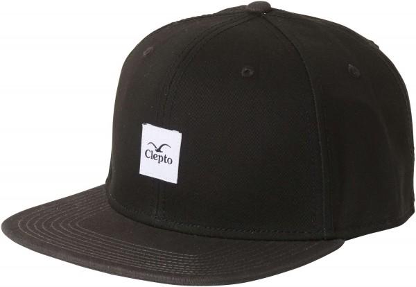 Cleptomanicx - Badger 3 Strapback Cap - Schwarz Vorderansicht schräg rechts