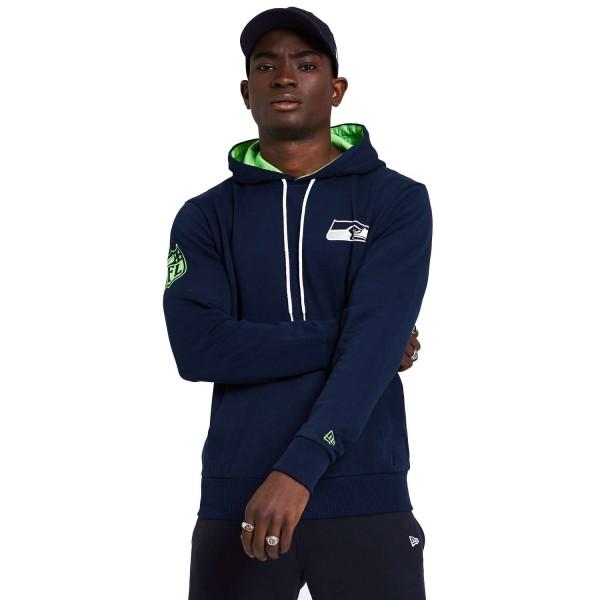 New Era - NFL Seattle Seahawks Chest Print Team Logo Hoodie - Blau Vorderansicht