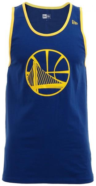 New Era - NBA Golden State Warriors Team App Pop Logo Tank Top - Blau-Gelb