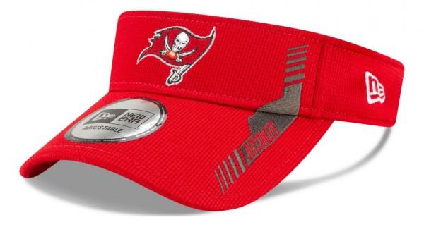 New Era - NFL Tampa Bay Buccaneers 2021 Sideline Home Visor - Rot Ansicht vorne schräg links