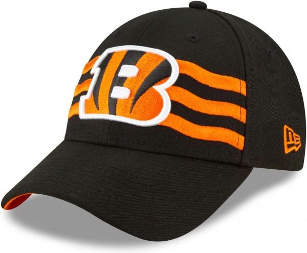 New Era - NFL Cincinnati Bengals Draft 2019 On-Stage 9Forty Strapback Cap - Schwarz Ansicht schräg links