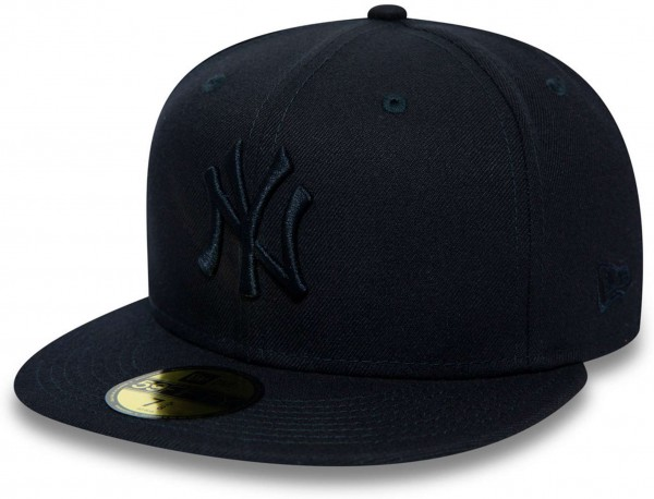 New Era - MLB New York Yankees Essential 59Fifty Fitted Cap - Blau Ansicht vorne links